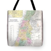 1836 Tanner Map Of Palestine  Israel  Holy Land Tote Bag