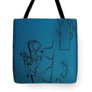 1837 Riding Saddle Patent Tote Bag