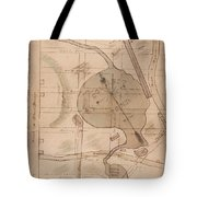 1840 Manuscript Map Of The Collect Pond And Five Points New York City Tote Bag