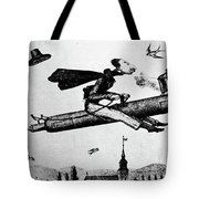 1840s 1800s Illustration Cartoon Of Man Tote Bag