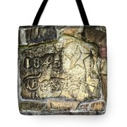 1845 Republic Of Texas - Carved In Stone Tote Bag