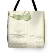 1846 Us Coast Survey Map Of Nantucket  Tote Bag by Paul Fearn