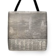 1850 Meyer Comparative Chart Of World Mountains Tote Bag