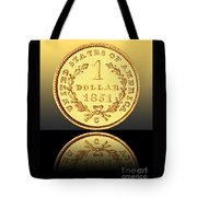 1851 1 Dollar Rare Charlotte Gold Tote Bag by Jim Carrell
