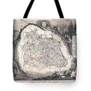 1852 Levasseur Map Of The Department Du Puy De Dome France Tote Bag