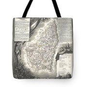 1852 Levasseur Map Of The Department L Ardeche France Tote Bag