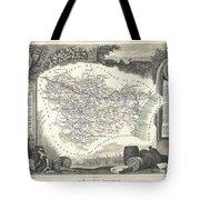 1852 Levasseur Map Of The Department L Aude France Tote Bag