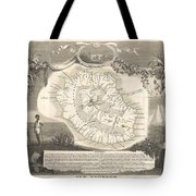 1852 Levasseur Map Of The Reunion Or The Ile Bourbon Indian Ocean Tote Bag