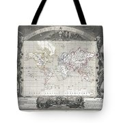 1852 Levasseur Map Of The World Tote Bag