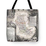1852 Levasseur Mpa Of The Department De La Loire France Loire Valley Region Tote Bag