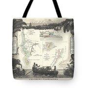 1852 Levassuer Map Of Senegal Senegambia And Madagascar Tote Bag