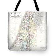 1852 Philip Map Of Palestine  Israel  Holy Land Tote Bag