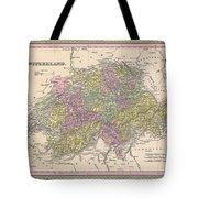 1853 Mitchell Map Of Switzerland  Tote Bag