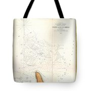 1853 Us Coast Survey Map Of The Romer And Flynns Shoals Near Coney Island New York Tote Bag