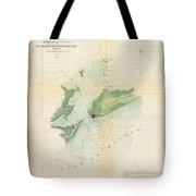 1853 Us Coast Survey Map Or Chart Of Bartaria Bay Louisiana Tote Bag