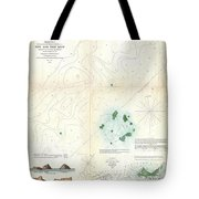 1853 Us Coast Survey Map Or Chart Of Sow And Pigs Reef Off Marthas Vineyard Massachussetts Tote Bag