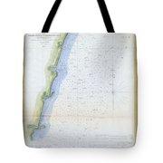 1853 U.s.c.s. Map Of The Virginia Coast Tote Bag