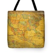 1854 Jacob Monk Wall Map Of North America Tote Bag