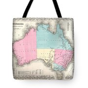 1855 Colton Map Of Australia Tote Bag