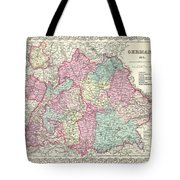 1855 Colton Map Of Bavaria Wurtemberg And Baden Germany Tote Bag