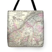 1855 Colton Map Of Canada East Or Quebec Tote Bag