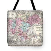 1855 Colton Map Of Hanover And Holstein Germany Tote Bag
