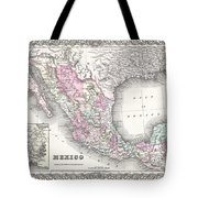 1855 Colton Map Of Mexico - Geographicus1855 Colton Map Of Mexico - Geographicus Tote Bag