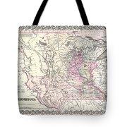 1855 Colton Map Of Minnesota Tote Bag