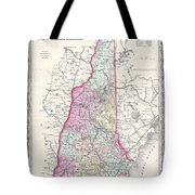 1855 Colton Map Of New Hampshire Tote Bag