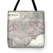 1855 Colton Map Of North Carolina Tote Bag