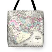 1855 Colton Map Of Persia Afghanistan And Arabia Tote Bag