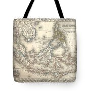 1855 Colton Map Of The East Indies Singapore Thailand Borneo Malaysia Tote Bag