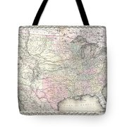 1855 Colton Map Of The United States  Tote Bag