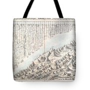 1855 Colton Map Or Chart Of The Worlds Mountains And Rivers Tote Bag