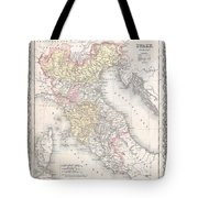 1856 Desilver Map Of Northern Italy Tote Bag