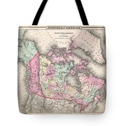 1857 Colton Map Of Canada And Alaska Tote Bag