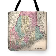 1857 Colton Map Of Maine Tote Bag