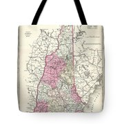 1857 Colton Map Of New Hampshire Tote Bag