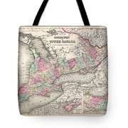 1857 Colton Map Of Ontario Canada Tote Bag