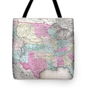 1857 Colton Map Of The United States  Tote Bag