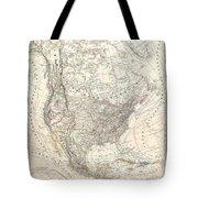 1857 Dufour Map Of North America Tote Bag