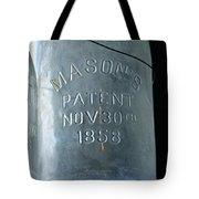 1858 Masons Jar Tote Bag