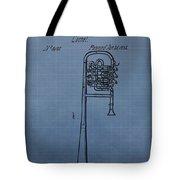 1858 Trumpet Patent Tote Bag