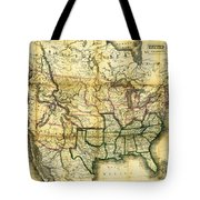 1861 United States Map Tote Bag