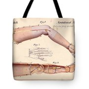 1865 Artificial Limbs Patent Drawing Tote Bag