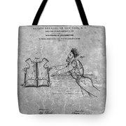 1869 Life Preserver Patent Charcoal Tote Bag