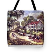 1870s 1800s A Home On The Mississippi - Tote Bag