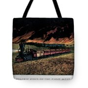 1870s Prairie Fires Of The Great West - Tote Bag