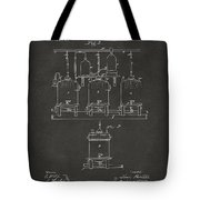1873 Brewing Beer And Ale Patent Artwork - Gray Tote Bag by Nikki Marie Smith