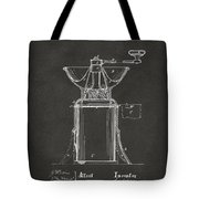 1873 Coffee Mills Patent Artwork Gray Tote Bag by Nikki Marie Smith